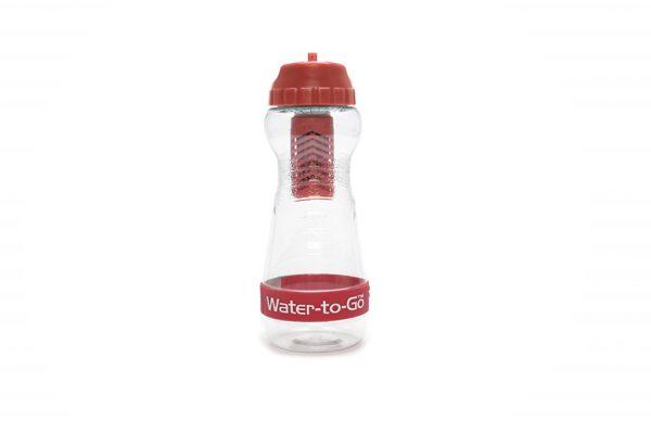 Rød 50cl vandflaske med filter